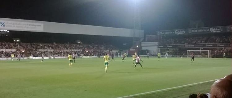 Brentford vs Norwich with thanks to John Hirdle