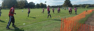 Brentford Ladies being put through their paces