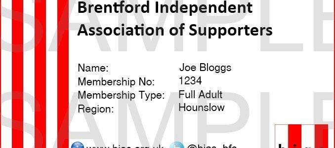 BIAS Membership Card 2014/15 Sample