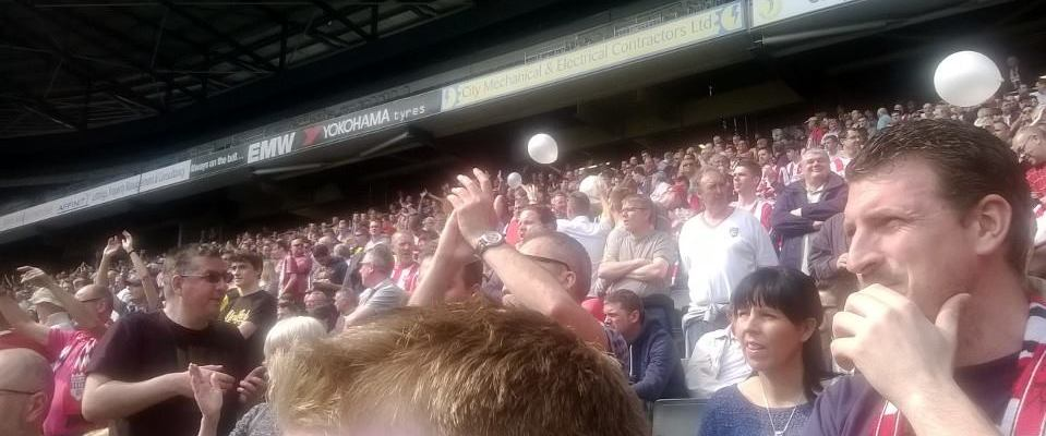 Fans at MK Dons (with thanks to John Hirdle)