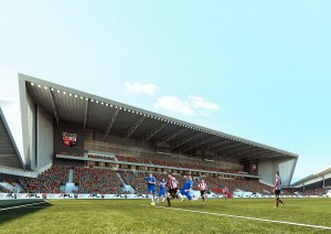 Lionel Road Pitch view of main stand