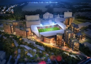 Proposed Aerial view of Lionel Road Stadium