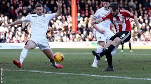Jonathon Douglas shoots past the Bournemouth defence